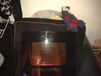 plasma fire electric 1800w 900w due to no home with gas supply. reason for sale
