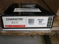 1 ream of Character (high quality) A4 100g brilliant white wove paper