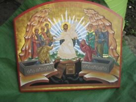 Glory of Jesus Christian Religious Wooden Icon
