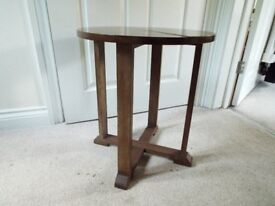 Wooden round occasional table for sale