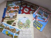 tea towels collectable various places uk
