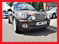 (15000 Miles)-- 2010 Mini Hatch 1.6 Cooper Mayfair --- Low 15000 Miles --- Nice Brown Le