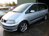 seat alhambra 2.0 tdi 6 speed silver full years mot
