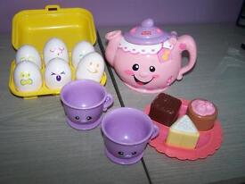 tea set ect and set eggs