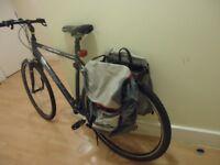 back pannier slight tear free scott bicycle thrown in.