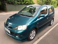 Automatic** 2002 Diahatsu 1.3 YRV F-Speed AUTO - 5 Door - New 12 Months MOT