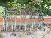 Wrought iron garden / driveway gates