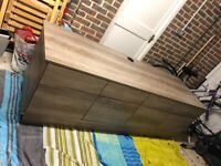 2 Metres Wooden TV Unit with Cupboards and Draws Laminate MINT CONDITION