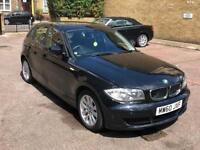 2011 BMW 1 SERIES 116D BLACK FULL SERVICE 1 OWNER £30 yearly tax similar to Audi A3 golf