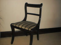 4 Dining Chairs in Reproduction Wood