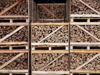 1 Cubic Metre Crate of Stacked Ash Firewood - Kiln Dried Logs 1m3 Free Delivery