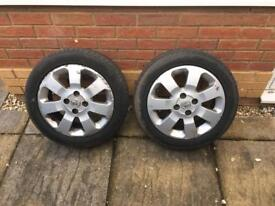 "Vauxhall Corsa 15"" Alloy Wheels and Tyres"
