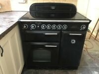 Rangemaster Classic 90cm Induction Double Electric Range Cooker WITH Rangemaster Hood