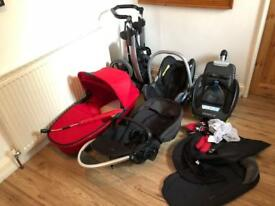 Maxi Cosi Travel System inc Isofix Car Seat, Pram & Pushchair