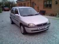Vauxhall corsa 1.4 very low milage one owner last 14 years