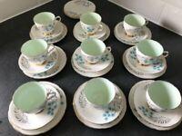 Rare Vintage 1950's Old Royal Bone China England 30 Piece Tea Set (9 Trios)