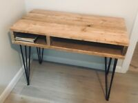 Industrial Rustic Vintage Scaffold Wood, Hairpin legs Bespoke Office Desk