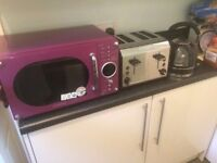 Microwave, toaster and kettle. All together or separate.