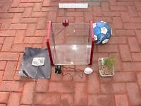 used RED Aqua SPACE 30L fish tank aquarium wembley kot