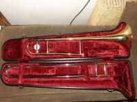 Yamaha YSL 354E Bb Tenor Trombone with hard case