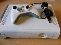 Microsoft Xbox 360 20 GB Matte White Console (PAL) with 8 games