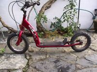 """Childs BMX Scooter 12.5"""" Inflatable tyres (VERY RARE)"""