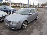 AUDI A3 1968cc SPORT TDI S LINE AUTOMATIC TURBO DIESEL 3 DOOR HATCH 2004-54