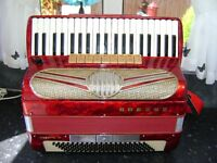 HOHNER MUSETTE 1V 120 BASS PIANO ACCORDION WITH MICS