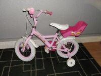 """girls bike with 14"""" wheels and stabilizers please read description before calling."""