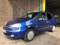 2005 CHEVROLET TACUMA SX 1.6 5 DOOR MPV *LOW MILEAGE,SEPTEMBER MOT-NO ADVISORIES*