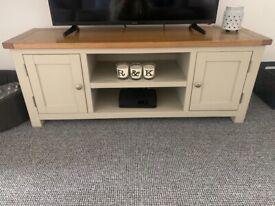 Cream tv stand