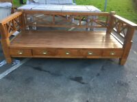 Indonesian teak day bed