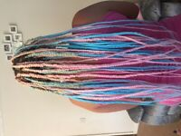 HAIR EXTENSIONS, BRAIDS, FRENCH PLAITS, TWISTS