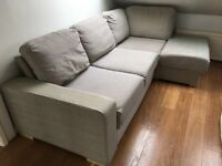 Corner sofa with fold out bed