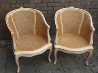 2 Period Bergere chairs