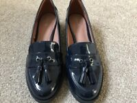 Next Cleated Tassel Loafers - Navy. Brand New