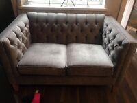 New by Next Velvet Sofa