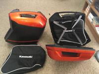 Kawasaki Panniers . Fits Kawasaki Z1000SX , Versys 650 , Versys 1000 , 2017 onwards