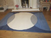 IKEA Solbjerg blue, grey and cream rug 170cm x 120cm (two available)