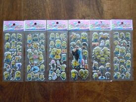 Minions puff 3D stickers £1 for 2 sheets