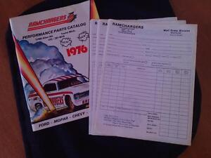 1976 RAMCHARGERS ORDER CATALOG FOR SALE