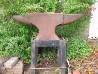 Full size blacksmith's anvil with metal stand