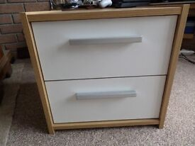 Modern light oak bedside cabinet