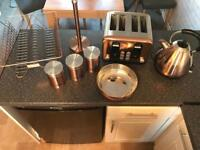 Copper kettle, toaster & kitchen accessories