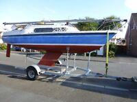 Pandora 700 Sailing Yacht/Boat/Cruiser with Trailer