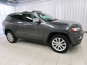 2017 Jeep Grand Cherokee LIMITED 4X4 SUV w/ HEATED LEATHER, SUNR
