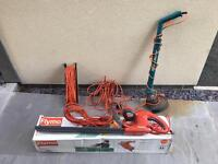 Flymo Hedge Trimmer and Black and Decker Strimmer, plus cables
