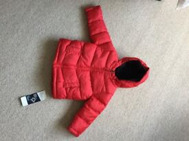 New M&S warm padded jacket age 18 mths - 2 yrs.