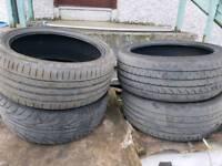 ×4 Part wore tyres 205/40/17
