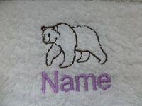 Grizzly Orso E Il Nome Ricamato Onto Asciugamani Bagno Tuniche -  - ebay.it